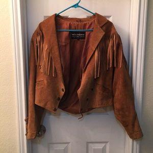 True vintage, real suede fringe jacket